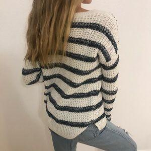 Navy Blue Stripped Hollister Sweater